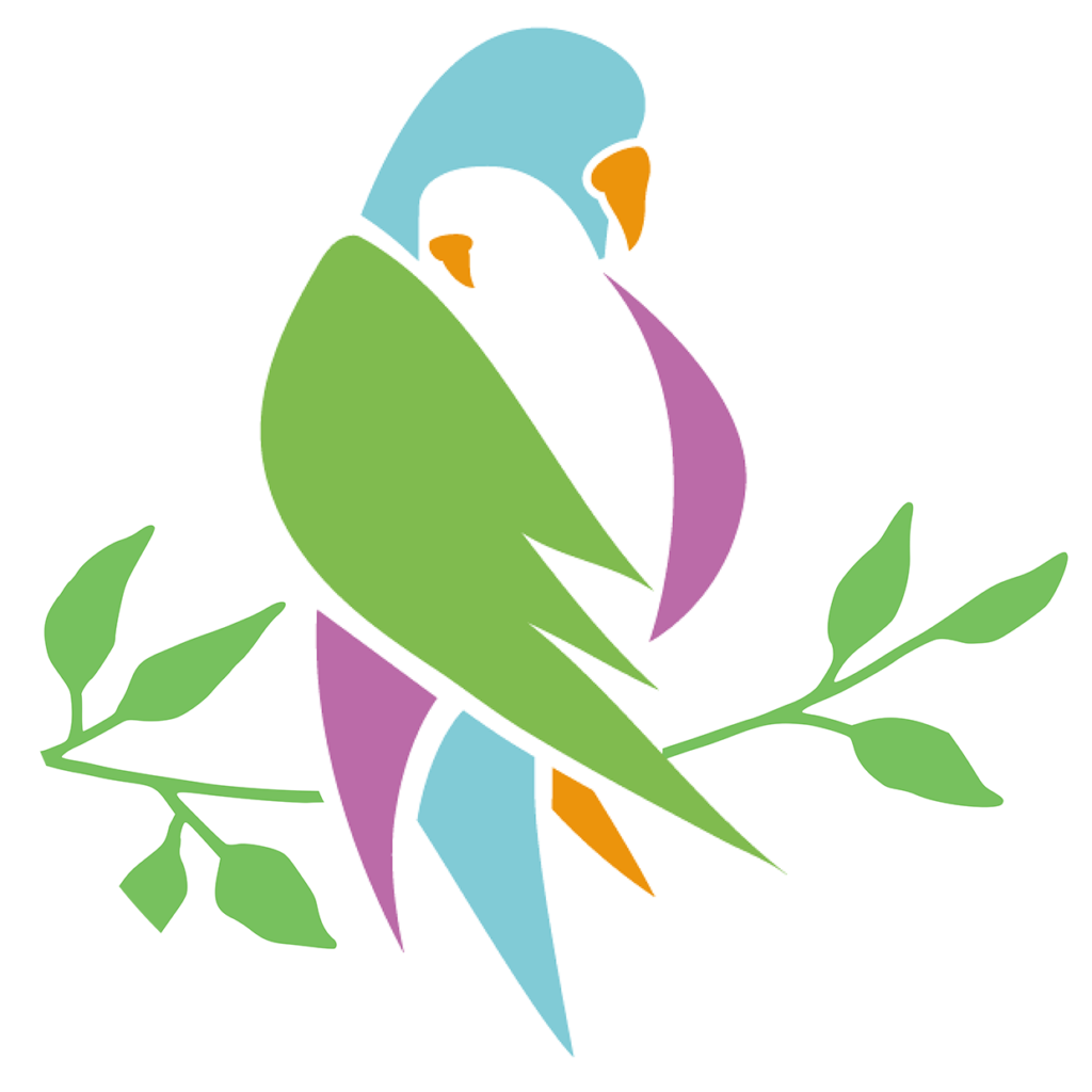 PACT logo of a larger bird taking a smaller bird into it's wings